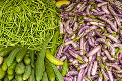 Vegetables. In the market in Asia Royalty Free Stock Image