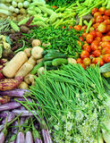 Vegetables on market in asia. Heap of various vegetables on market in asia Royalty Free Stock Image