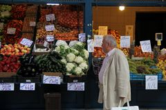 Vegetables. At the market in Budapest, Hungary Royalty Free Stock Photography