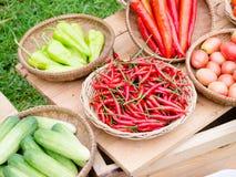 Vegetables market. Close up vegetables at a farmers market Stock Image