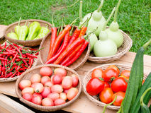 Vegetables market. Close up vegetables at a farmers market Royalty Free Stock Photography