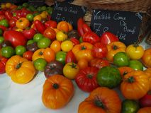 Vegetables at the market. Colorful vegetables at the farmers market Royalty Free Stock Photos
