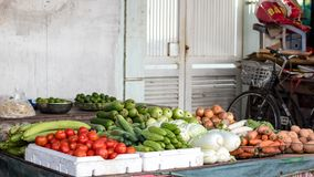 Vegetables in the market stock image