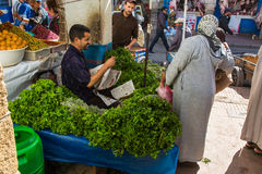 On vegetables market in Essaouira, Morocco Stock Photo