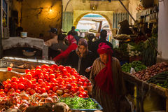 On vegetables market in Essaouira, Morocco Stock Photos