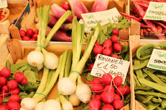 Vegetables market. Fresh vegetables on a market in italy Royalty Free Stock Photography