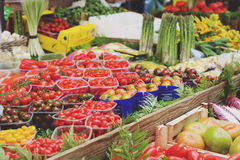 Vegetables market. In the heart of Rome Royalty Free Stock Photography