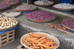 Vegetables on a market Stock Photos