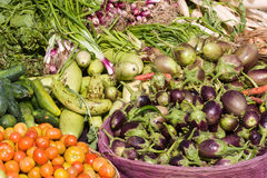 Vegetables on market in India Royalty Free Stock Photos