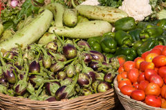 Vegetables on market in India Stock Image