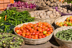 Vegetables on market in India Royalty Free Stock Image