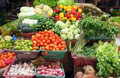 Vegetables on market in india. Various vegetables on market in asia Stock Images