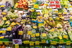 Vegetables on a market in Japan Stock Photos