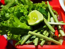 The vegetables in the market look fresh. And yummy Royalty Free Stock Photo
