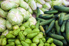 Vegetables on a market Royalty Free Stock Photography