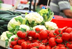 Vegetables on market Royalty Free Stock Images