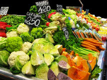 Vegetables in the market stall Royalty Free Stock Images