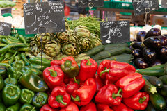 Vegetables on market stall Stock Photography