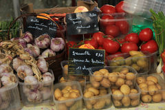 Vegetables at  market stall Royalty Free Stock Images