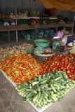 Vegetables on a market stall,Vinh Long Royalty Free Stock Photography