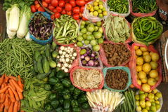 Vegetables on the market at Yangon stock image