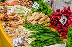 Vegetables marketplace Royalty Free Stock Images