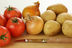 Vegetables before meal preparation Stock Photography