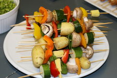 Vegetables instead meat. Good kebab for vegetarian, tasty, low level of calories, and very decorative Royalty Free Stock Images