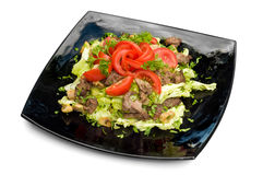 Vegetables and meat salad Stock Image