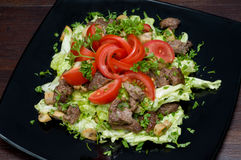 Vegetables and meat salad Stock Photography
