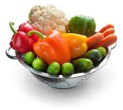Vegetables in metal pan Royalty Free Stock Photography