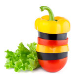 Vegetables mix with lettuce Stock Photography