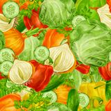 Vegetables mix seamless background Stock Photography