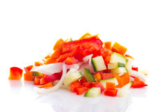 Vegetables mix for teppanyaki isolated Royalty Free Stock Image
