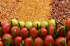 Vegetables and nuts Royalty Free Stock Image