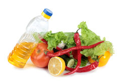 Vegetables and oil Royalty Free Stock Image
