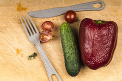 Vegetables on old board Royalty Free Stock Images