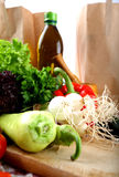 Vegetables and olive oil Royalty Free Stock Image