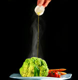 Vegetables with olive oil dressing Stock Image