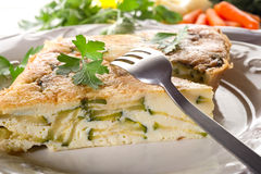Vegetables omelet Stock Photography