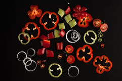 Free Vegetables On A Black Background Stock Images - 79045724