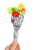 Vegetables On Forks. Royalty Free Stock Photo