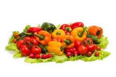 Vegetables On Leaf Lettuce Royalty Free Stock Images