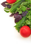 Vegetables On White Background Royalty Free Stock Photos