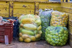 Vegetables packed in poly bags for sell