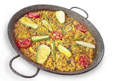 Vegetables paella Royalty Free Stock Photo
