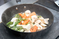 Vegetables on the pan Stock Image