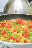 Vegetables in pan Royalty Free Stock Image