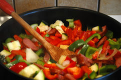 Vegetables in a pan Stock Photo