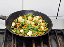Vegetables in a pan Royalty Free Stock Photo